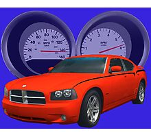 Charger With Dash Cluster as Background Photographic Print