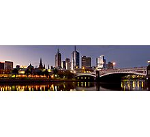 Melbourne at Dusk Photographic Print
