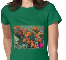 Orange Marigolds Womens Fitted T-Shirt
