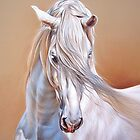 &quot;Andalusian stallion&quot; - close-up by Elena Kolotusha