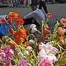 Artificial Flower Market, Mumbai, India by RIYAZ POCKETWALA
