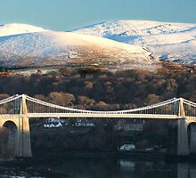 The Menai Bridge  by steveransome