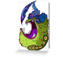 Frog Head Greeting Card
