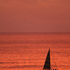 Hawaii: Waikiki Sunset by Kezzarama