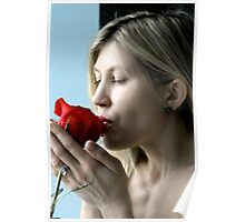 kiss for a rose a valentines day gift Poster