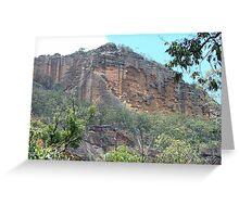 Falling apart, cliffs above Newnes township Greeting Card