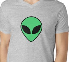 Alien  head Mens V-Neck T-Shirt