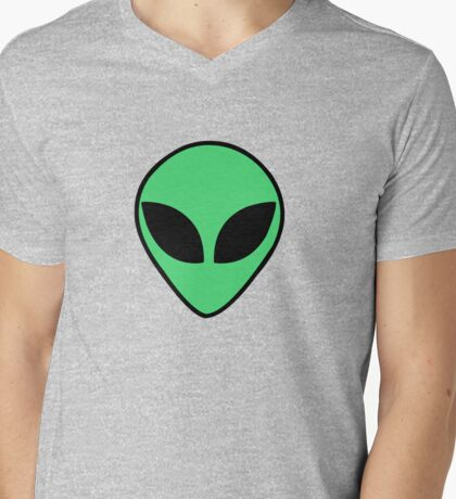 Alien  head Mens V-Neck T-Shirt