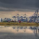 Thamesport, Isle of Grain  (Panorama) by brianfuller75