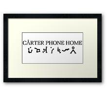 Stargate - Cater Phone Home Framed Print