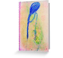 mysterious beauty Greeting Card