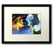 Sunflower eye Framed Print