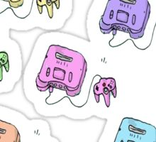 n64 colorfull Sticker