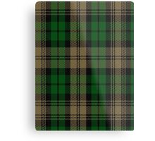 00410 Brown Watch Tartan Metal Print