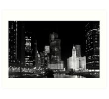 City signature - Chicago, IL Art Print
