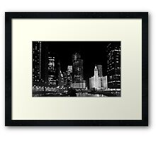 City signature - Chicago, IL Framed Print