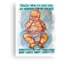 Pregnancy: Honestly, Do You Think Your Baby Cares About Labels? Canvas Print