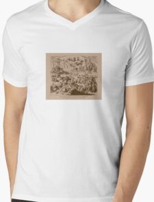 Vintage The End Of The Republican Party Print Mens V-Neck T-Shirt