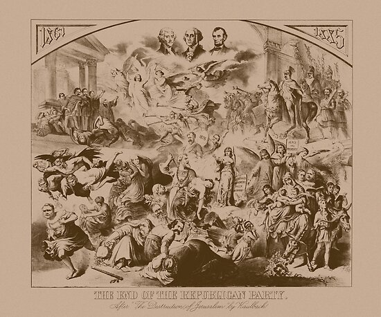 Vintage The End Of The Republican Party Print by warishellstore