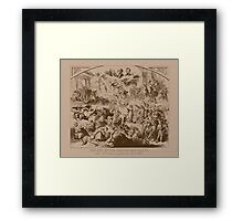 Vintage The End Of The Republican Party Print Framed Print