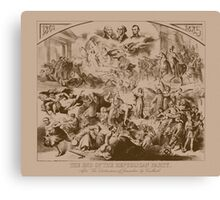 Vintage The End Of The Republican Party Print Canvas Print