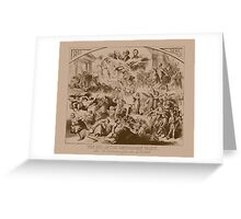 Vintage The End Of The Republican Party Print Greeting Card