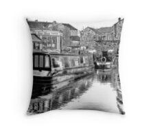 Skipton Canal Basin Throw Pillow