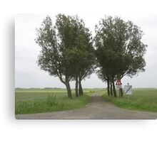 Lonely Trees in Dutch landscape Canvas Print