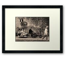 Boys' toys Framed Print
