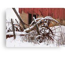 Rusty Wheels II Canvas Print