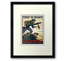 US Marines -- First In France Framed Print