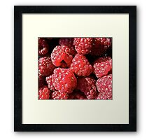 Delicious raspberries Framed Print