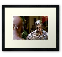 Facing his fears Framed Print