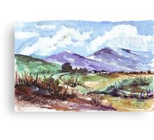 At the foothills of the Magalies Mountains Canvas Print