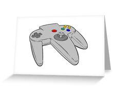 Vintage Nintendo 64 Controller Greeting Card