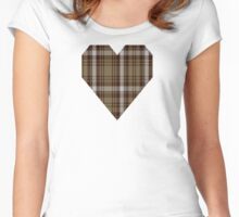 00412 Brown Watch Dress Tartan  Women's Fitted Scoop T-Shirt