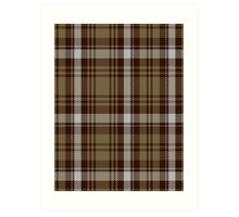 00412 Brown Watch Dress Tartan  Art Print