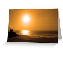 ballybunion golden beach sunset Greeting Card