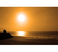 ballybunion golden beach sunset Photographic Print