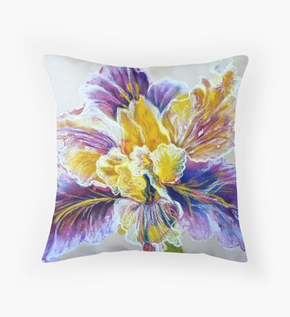 Iris flower Throw Pillow