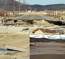 the day we lost our bridge,  Barstow,CA. by Lorin Richter