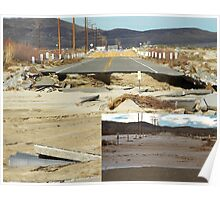 the day we lost our bridge,  Barstow,CA. Poster