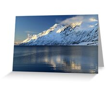Alpine mountains in Norway Greeting Card