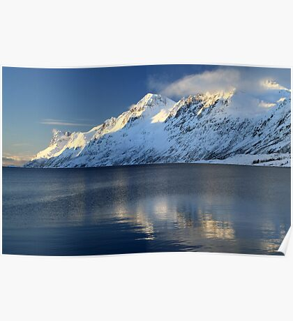 Alpine mountains in Norway Poster