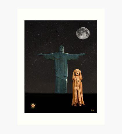 The Scream World Tour Rio Art Print