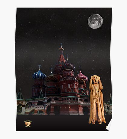 The Scream World Tour Moscow Poster