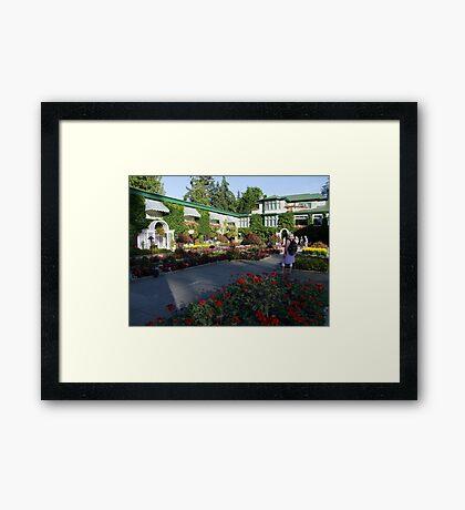 The Italian Garden at Butchart's (1) Framed Print