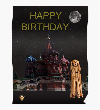 The Scream World Tour Moscow Happy birthday Poster