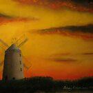 Ballycopeland Windmill,  Millisle,  Northern Ireland by Hilary Robinson