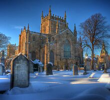 Dunfermline Abbey in the snow by Paul  Gibb